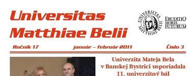 Spravodajca UMB 3/2011 (január-február)