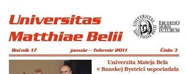 Spravodajca UMB 3/2010 (január-február)