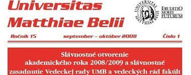 Spravodajca UMB 1/2008 (január-február)