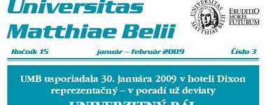 Spravodajca UMB 3/2009 (január-február)