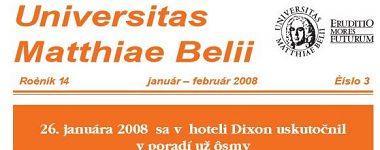 Spravodajca UMB 3/2008 (január-február)