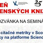 Nové citačné metriky v Scopuse a e-booky na platforme ScienceDirect
