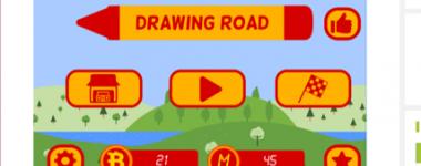 Nová elektronická hra s názvom Drawing road