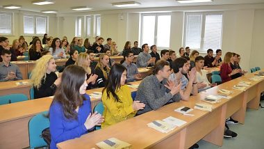 Meeting with students from Ukraine