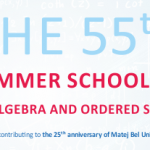 The 55th Summer School on Algebra and Ordered Sets 2017