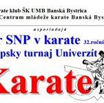 32. ročník medzinárodného turnaja karate o POHÁR SNP