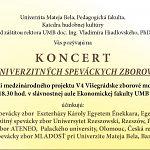 Koncert univerzitných speváckych zborov