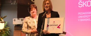 Katedra sociálnej práce PF UMB získala ocenenie
