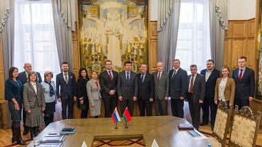 MBU delegation at Belarussian State University