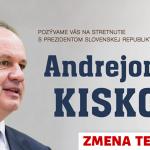 ZMENA TERMÍNU STRETNUTIA s prezidentom SR Andrejom Kiskom