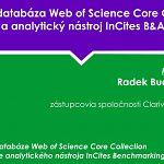 Web of Science – novinky a nástroje