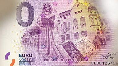 Eurobankovka vydaná Univerzitou Mateja Bela