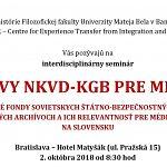 Archívy NKVD-KGB pre mediá.sk